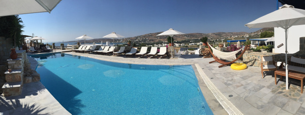 Our hotel on Paros by Vernon Adams
