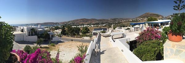 Our hotel on Paros by Vernon Adams