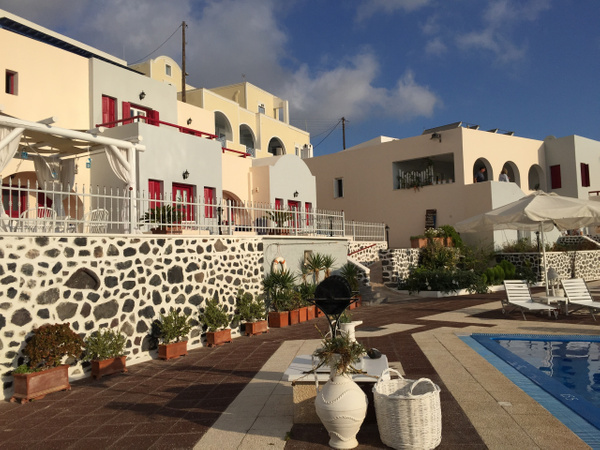 Our hotel on Santorini by Vernon Adams
