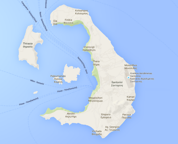 Santorini by Vernon Adams