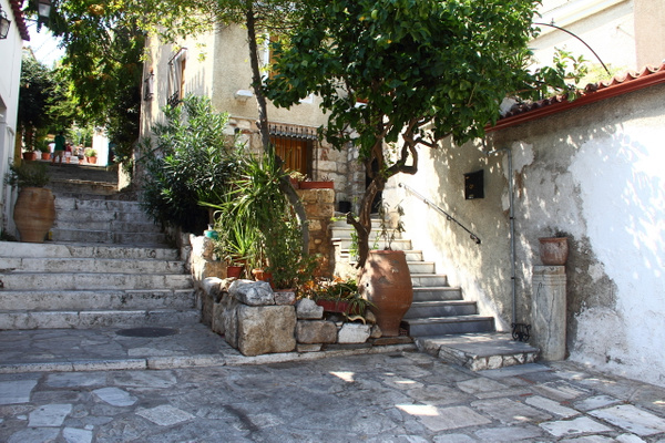 A quiet corner in Athens by Vernon Adams