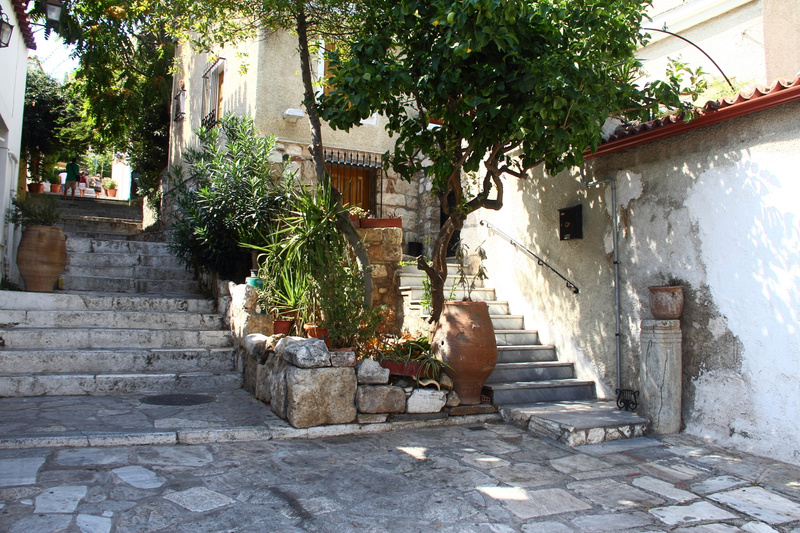 A quiet corner in Athens