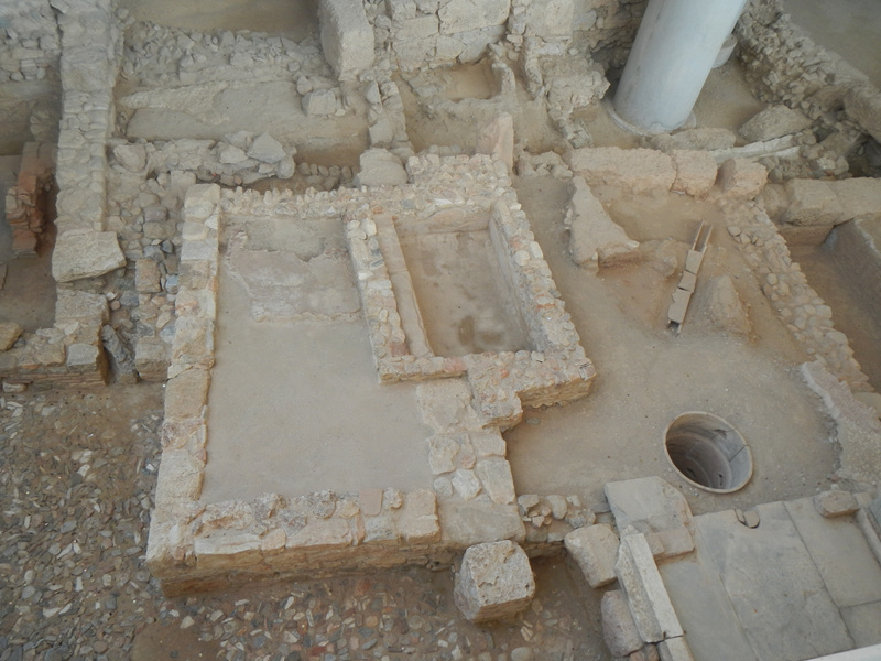 Archaeological dig at the Acorpolis Museum
