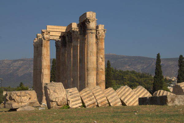 Temple to Zeus by Vernon Adams
