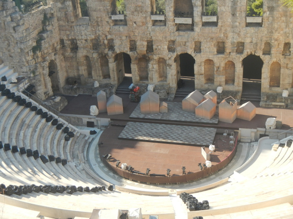 Odeon of Herodes Atticus by Vernon Adams