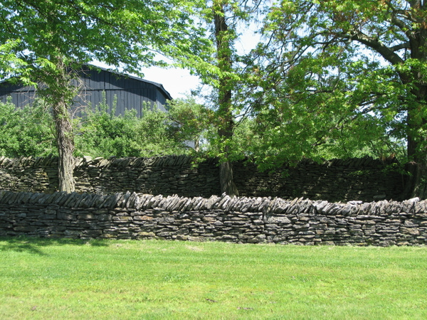 Hand built stone wall by Vernon Adams