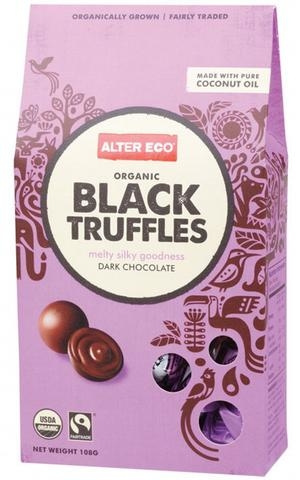 ALTER ECO ORGANIC DARK CHOCOLATE BLACK TRUFFLES by EarthyLiving