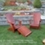 Folding Cedar Adirondack Chair and Furniture