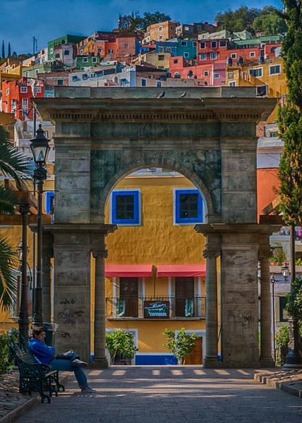 Guanajuato arch copy by FotoClaveGallery