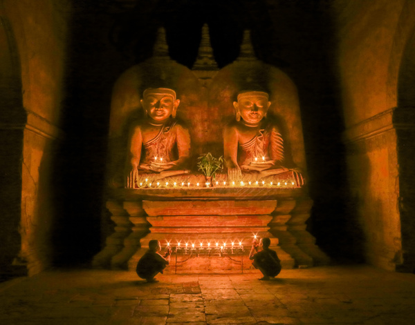 Temple Interior Bagan, Myanmar by FotoClaveGallery