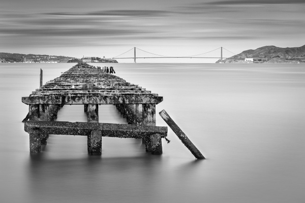 Berkeley Pier and Golden Gate Bridge by FotoClaveGallery