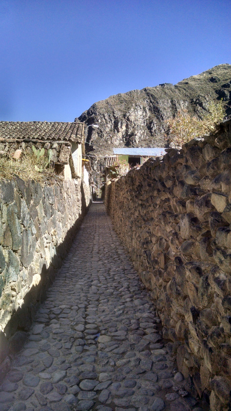 In small town in Sacred Valley