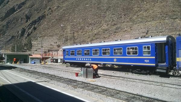 Waiting for Train to Machu Picchu