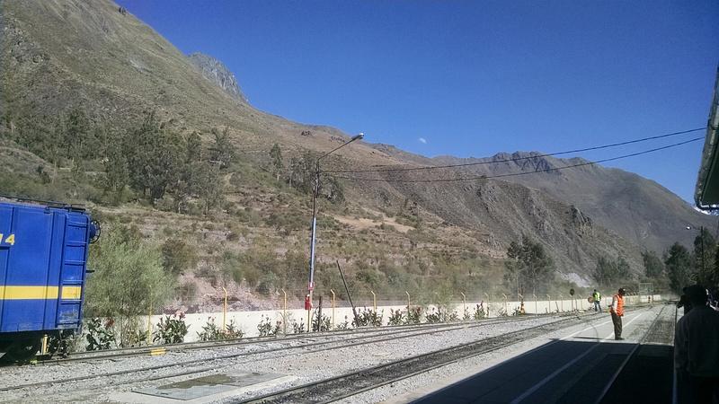 Train tracks to Machu Picchu