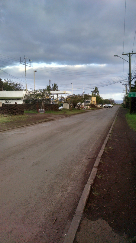 The road near the inn