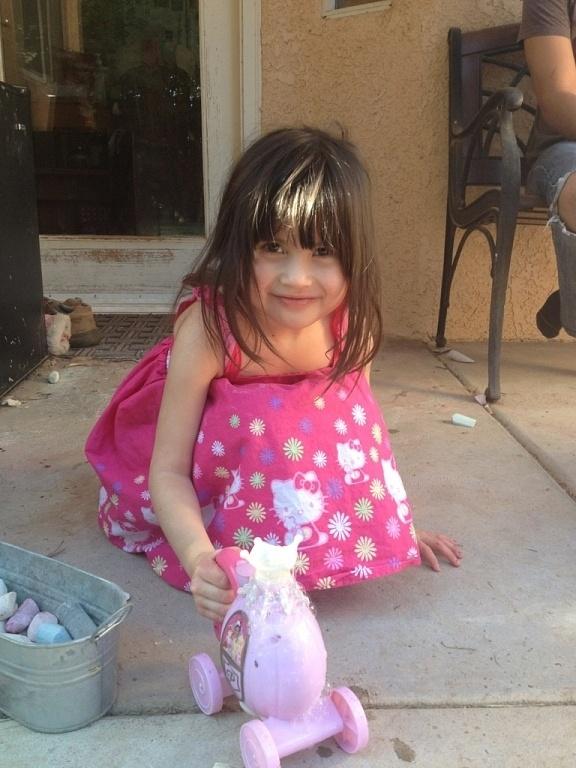 Mia with bubbles 2012
