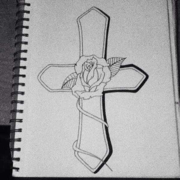 cross with rose by NicoleChaulk