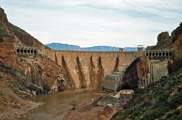 Original Roosevelt Dam - Salt River Canyon 1966 by...