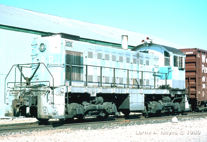 Engine #4 is an ALCO S1 built in 1942.