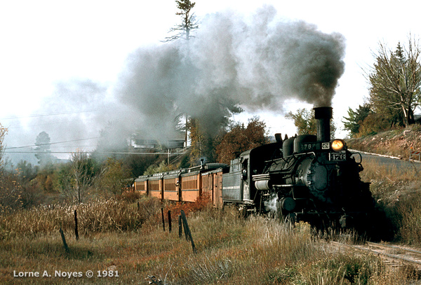 Northbound out of Durango morning train by ArizonaLorne