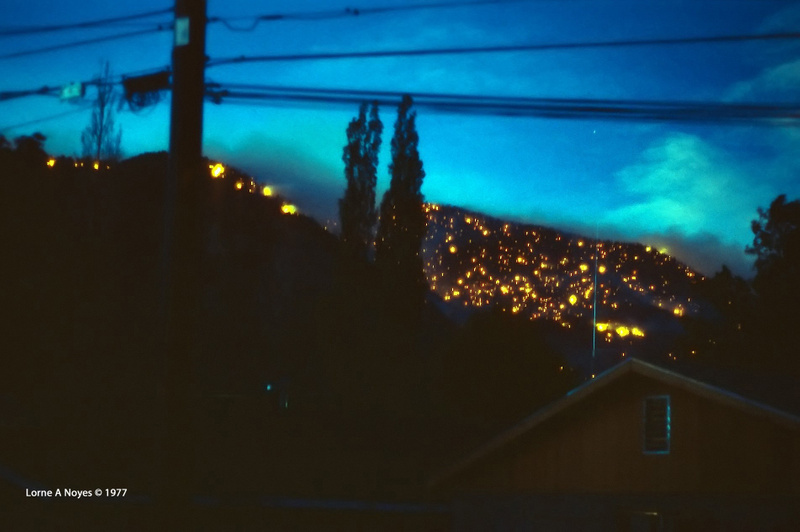 Glowing ambers of Mt. Elden at night
