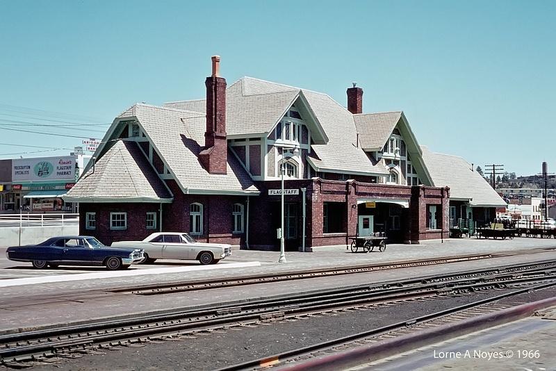 ATSF Flagstaff, AZ  station in 1966