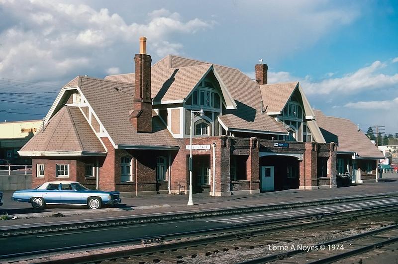 Flagstaff, AZ Amtrak station in 1974