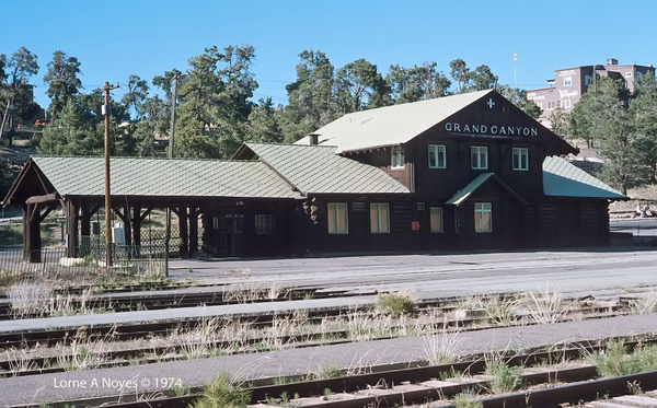 ATSF Grand Canyon Station in 1974 by ArizonaLorne