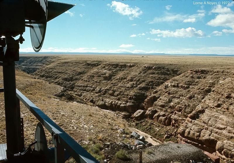 Atop Canyon Diablo signal bridge (don't do this today)