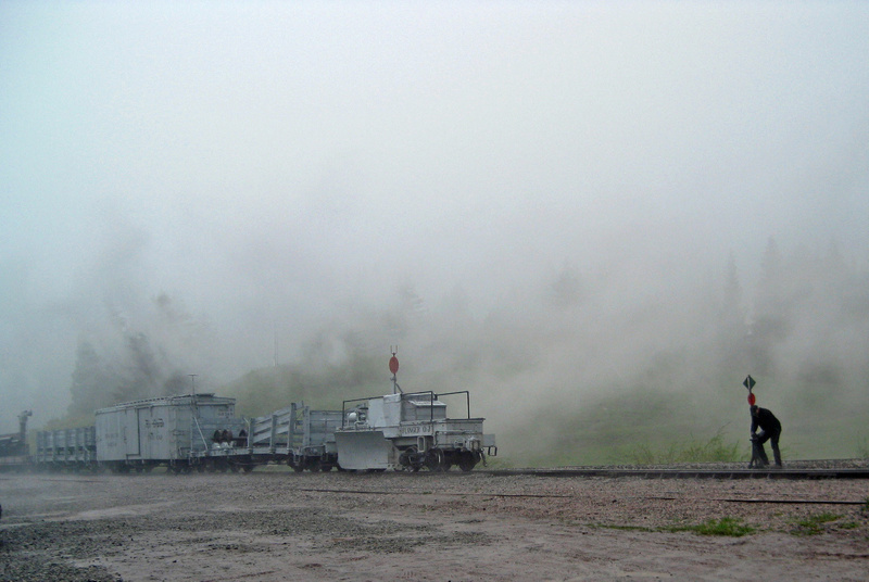 Wye-the-train in the clouds