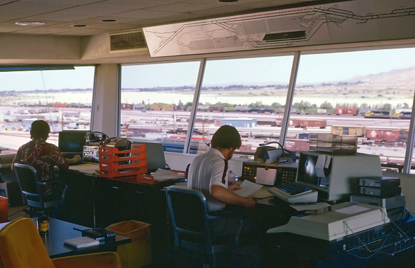 1975 ATSF Barstow Yard Tower by ArizonaLorne