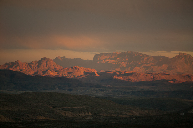 The Chisos at sunset