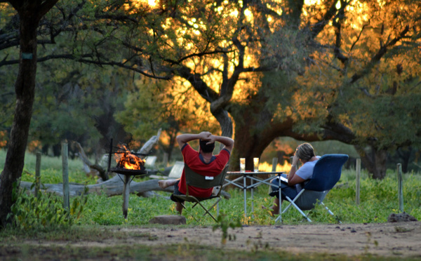 Camping at sunset by Rene De Klerk