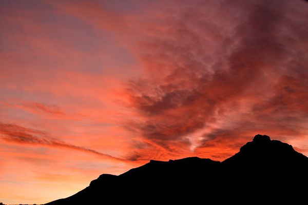 Sky on Fire by Rene De Klerk