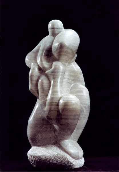 Mother and Child on her back by Shimon Drory by Shimon Drory