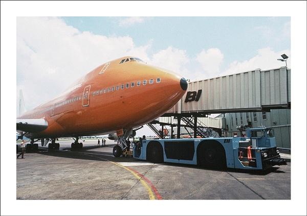 Braniff Airways Boeing 747 d by Maurizio Pierotti