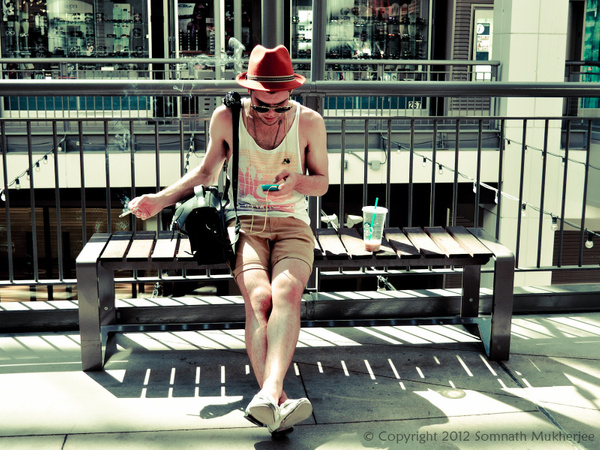 Little rest with music and smoke | 16th Street Mall | Denver, CO