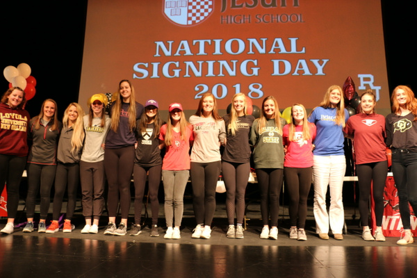 NLI Signing Day Ceremony - 04.11.18 by Regis Jesuit High...