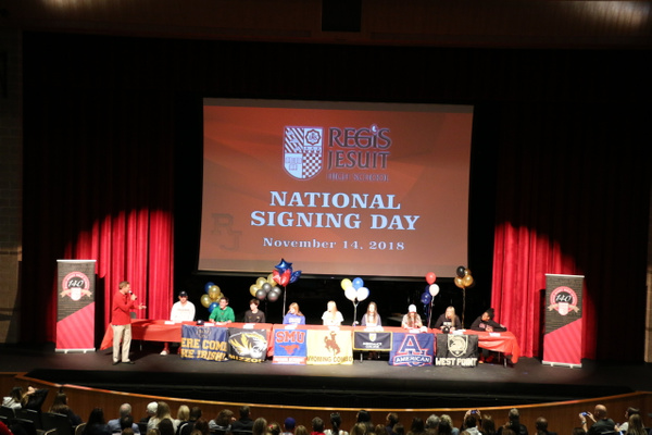 NLI Early Signing Day Ceremony 2018 by Regis Jesuit High...