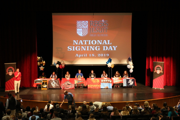NLI Signing Day - April 2019 by Regis Jesuit High School...