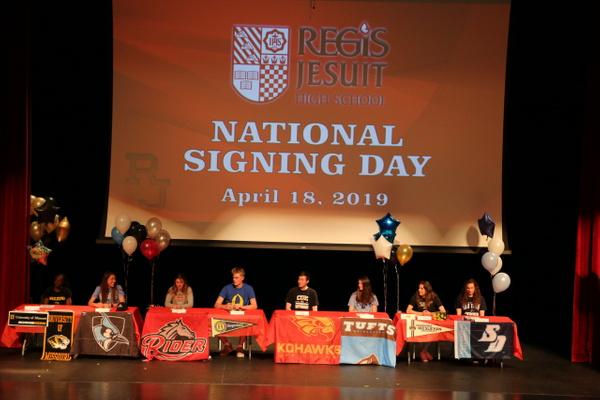 RJ1819 NLI Signing Day 04.18 (3) by Regis Jesuit High...