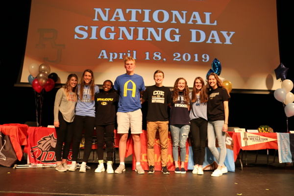 NLI Signing Day - April 2019 by Regis Jesuit High School