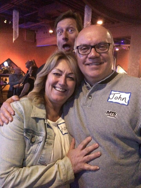 Lori, John and Photo Bomber by MTS Mobility Reunion Pics