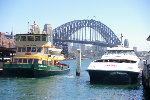 Sydney_Ferries_the_Golden_Grove_and_Louise_Sauvage_at_berth_in_Circular_Quay by WenTay4