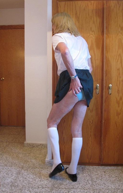 Schoolie in Green Skirt 12
