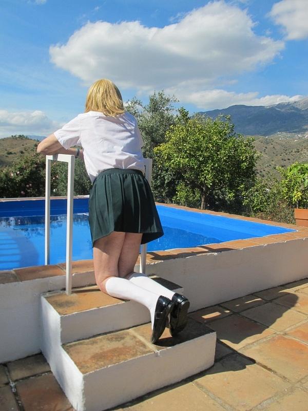 Schoolie in Green Skirt 40