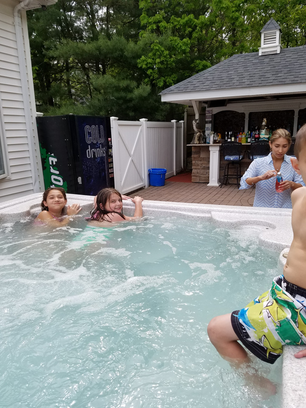 The jacuzzi well used,