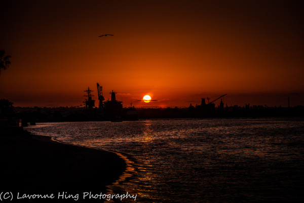 Coronado Naval Base Sunset- by LavonneHing