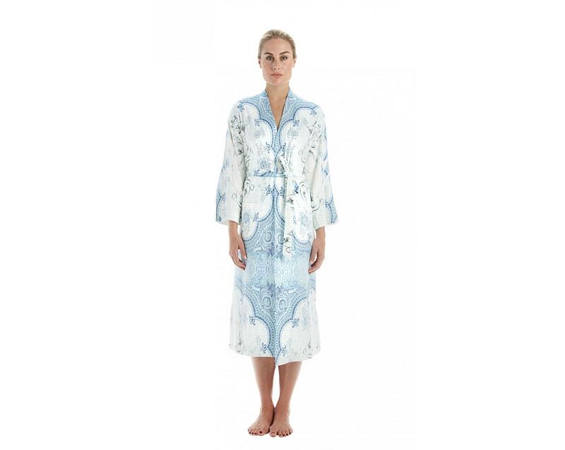Blue marrakesh kimono