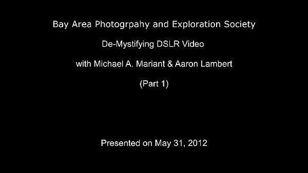 DSLR_Video-_Part1 by MeetupPhoto